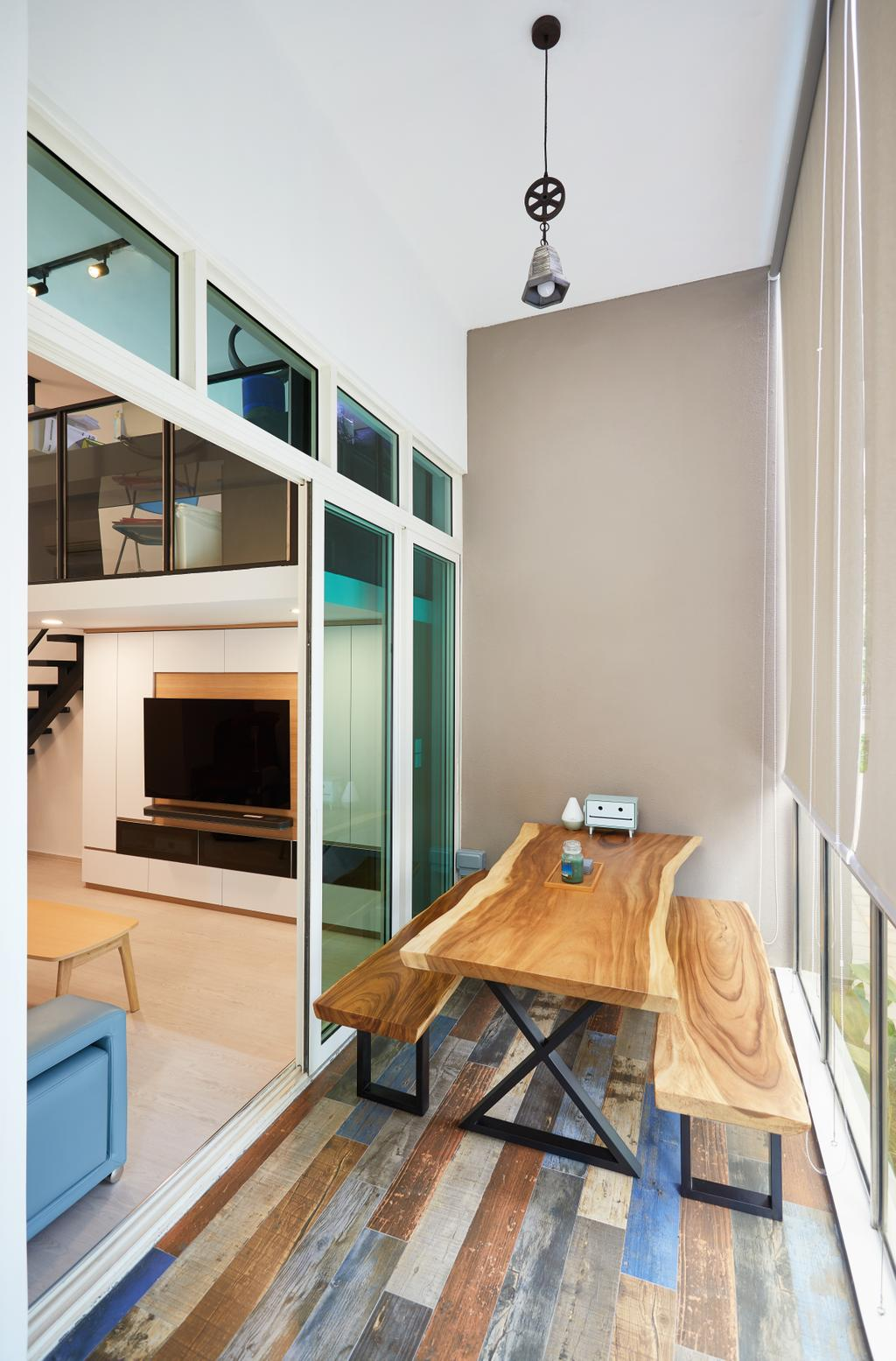 Modern, Condo, Balcony, Lengkong Tujoh, Interior Designer, Design 4 Space
