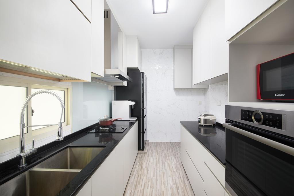 Modern, Condo, Kitchen, Lengkong Tujoh, Interior Designer, Design 4 Space