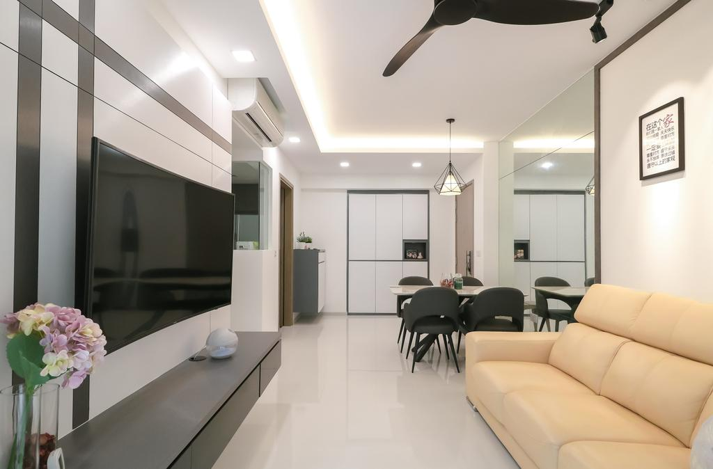 Modern, Condo, Living Room, The Terrace, Interior Designer, Design 4 Space