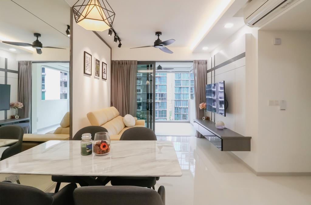 Modern, Condo, Dining Room, The Terrace, Interior Designer, Design 4 Space