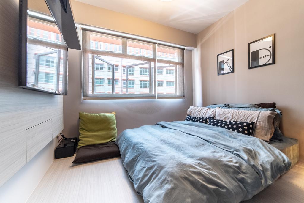 Industrial, HDB, Bedroom, West Valley, Interior Designer, Design 4 Space