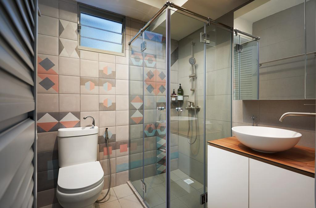 Scandinavian, HDB, Bathroom, Punggol Drive (Block 306D), Interior Designer, Design 4 Space