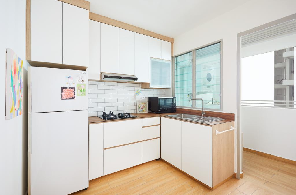 Scandinavian, HDB, Kitchen, Punggol Drive (Block 306D), Interior Designer, Design 4 Space