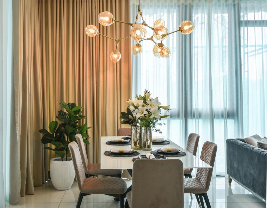 Modern, Condo, Dining Room, Picasso Residence, Jalan Jelantak, Interior Designer, SQFT Space Design Management, Contemporary
