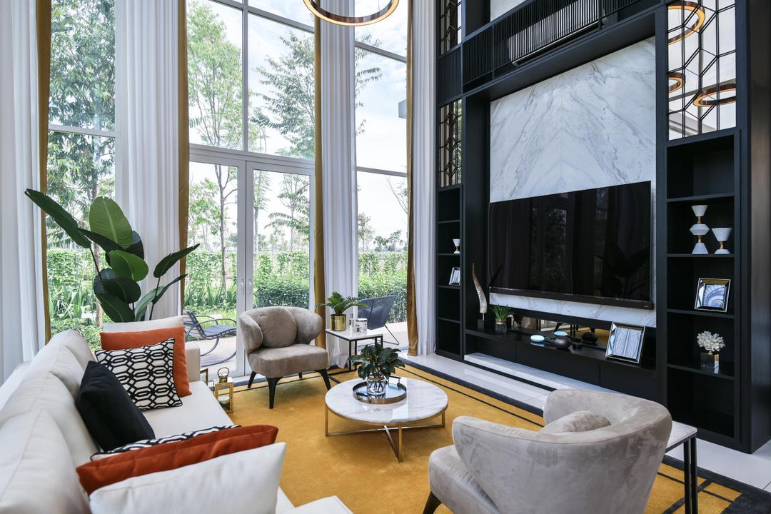 Viluxe Villa, Pulau Pinang Living Room Interior Design 5