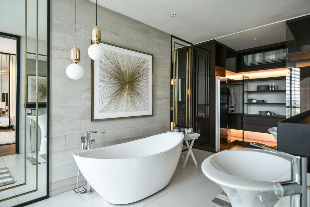 Modern, Condo, Bathroom, Viluxe Villa, Pulau Pinang, Interior Designer, SQFT Space Design Management, Contemporary