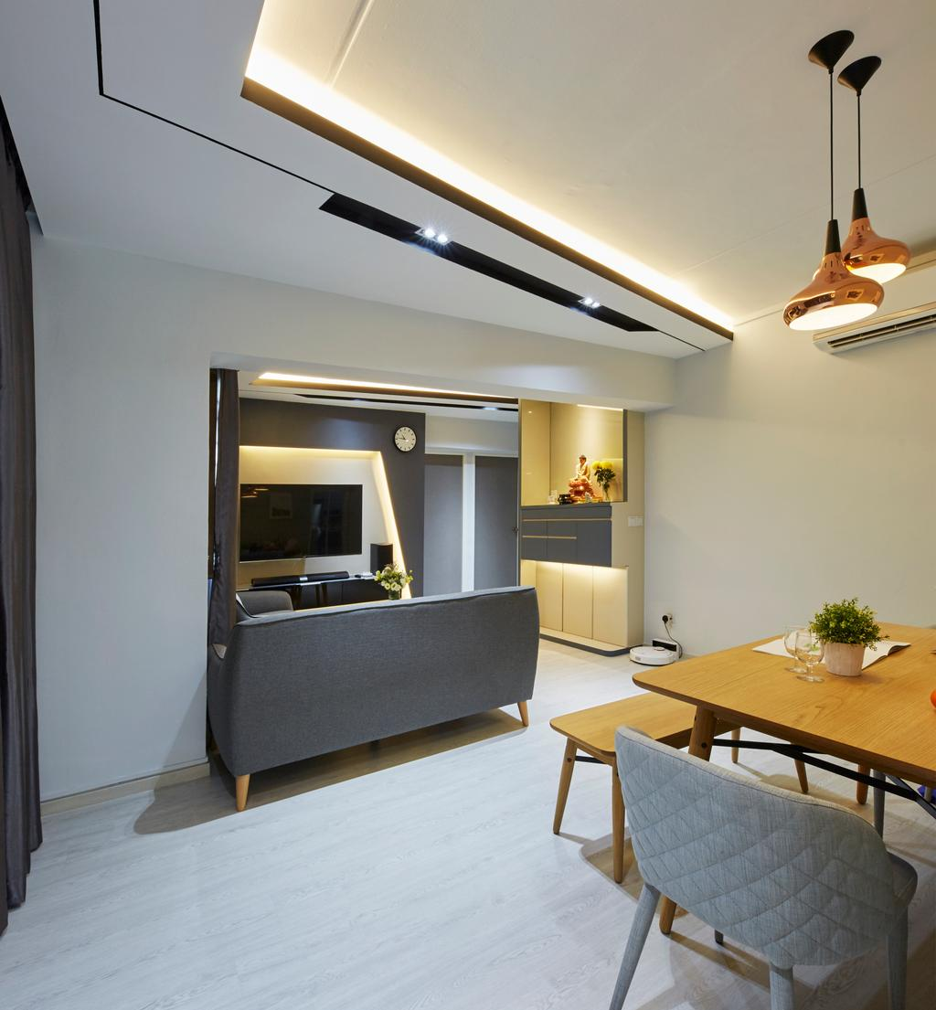 Modern, HDB, Dining Room, Choa Chu Kang ( Block 484), Interior Designer, i-Chapter