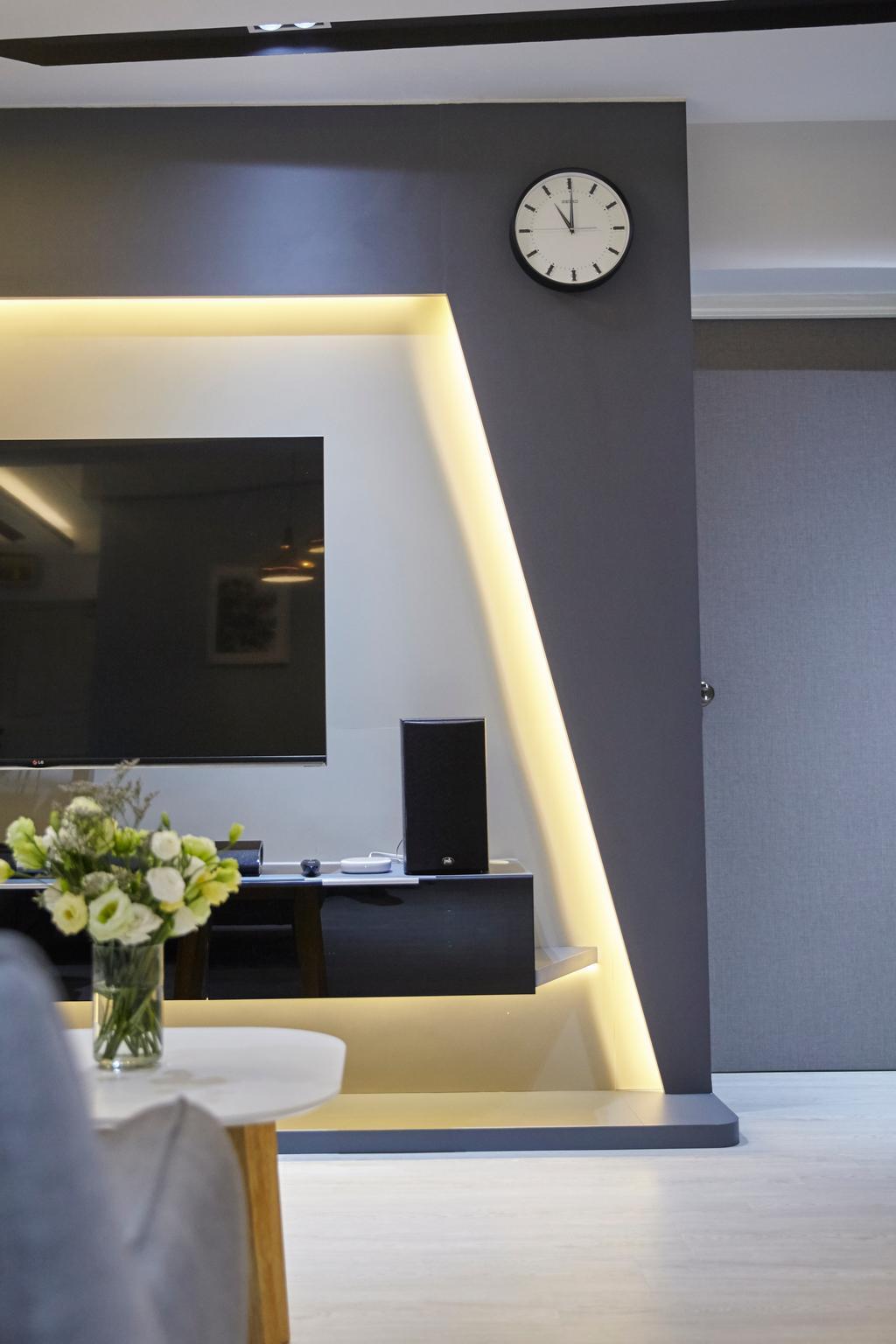 Modern, HDB, Living Room, Choa Chu Kang ( Block 484), Interior Designer, i-Chapter