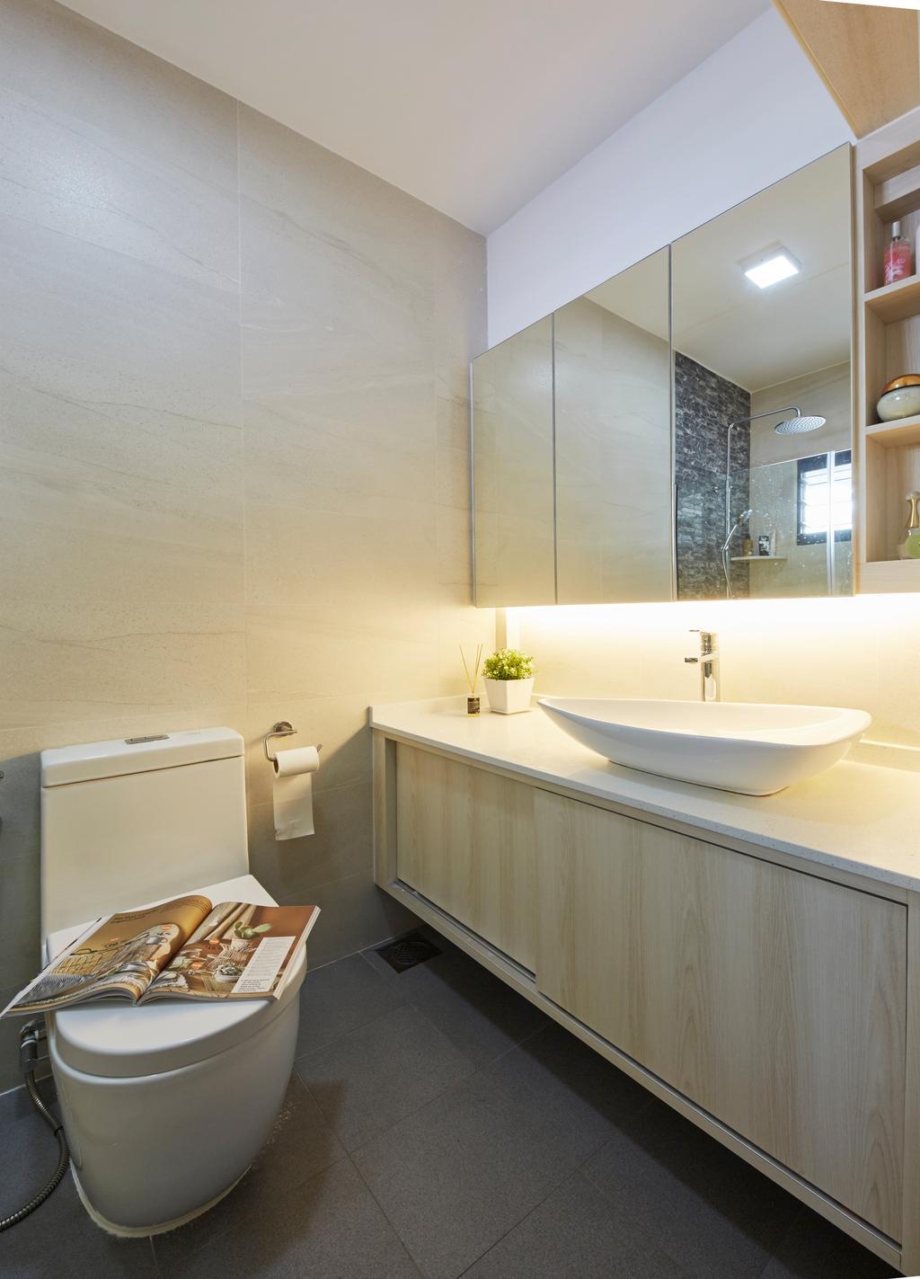 Modern, HDB, Bathroom, Choa Chu Kang ( Block 484), Interior Designer, i-Chapter