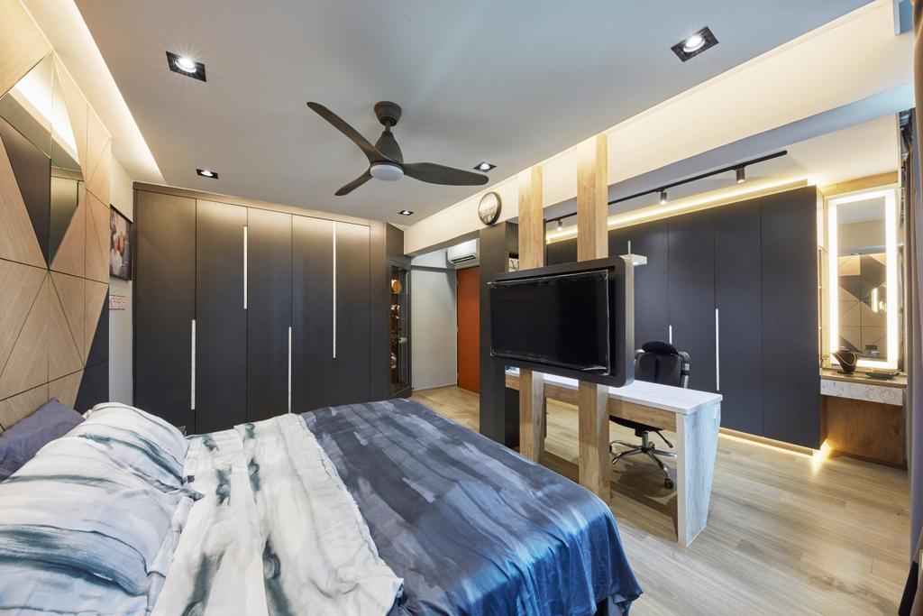 Contemporary, HDB, Bedroom, Tampines Street 45, Interior Designer, i-Chapter