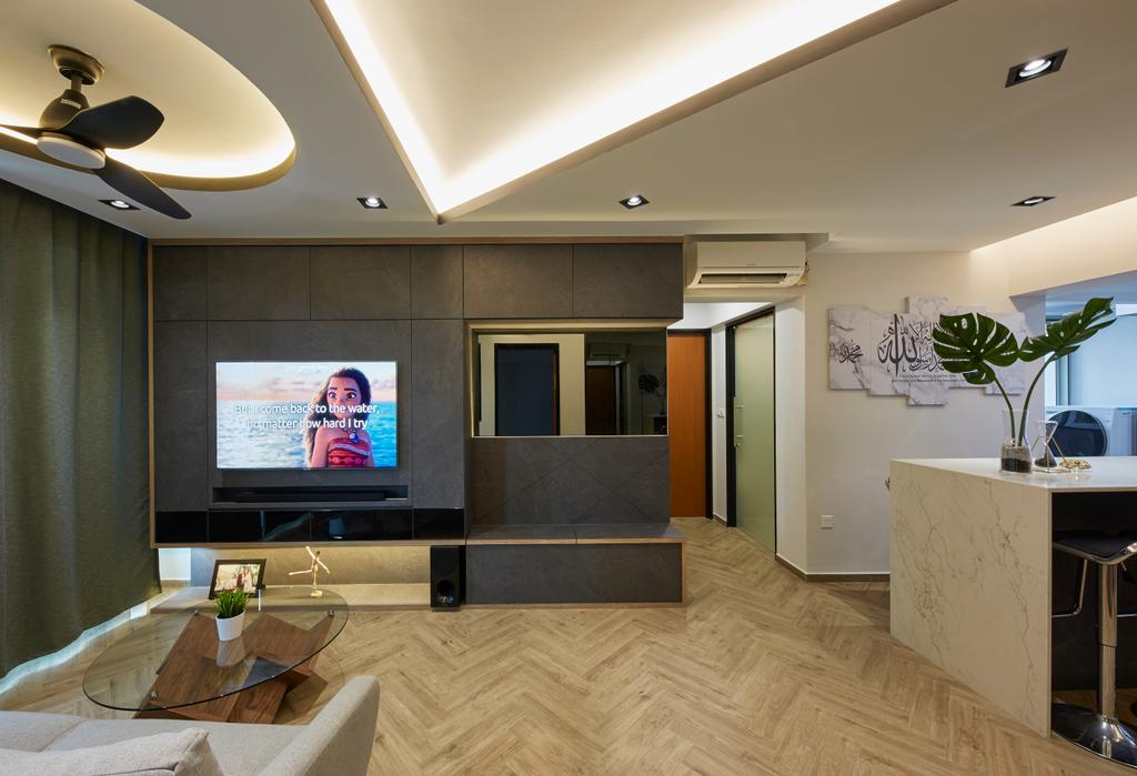 Contemporary, HDB, Living Room, Tampines Street 45, Interior Designer, i-Chapter