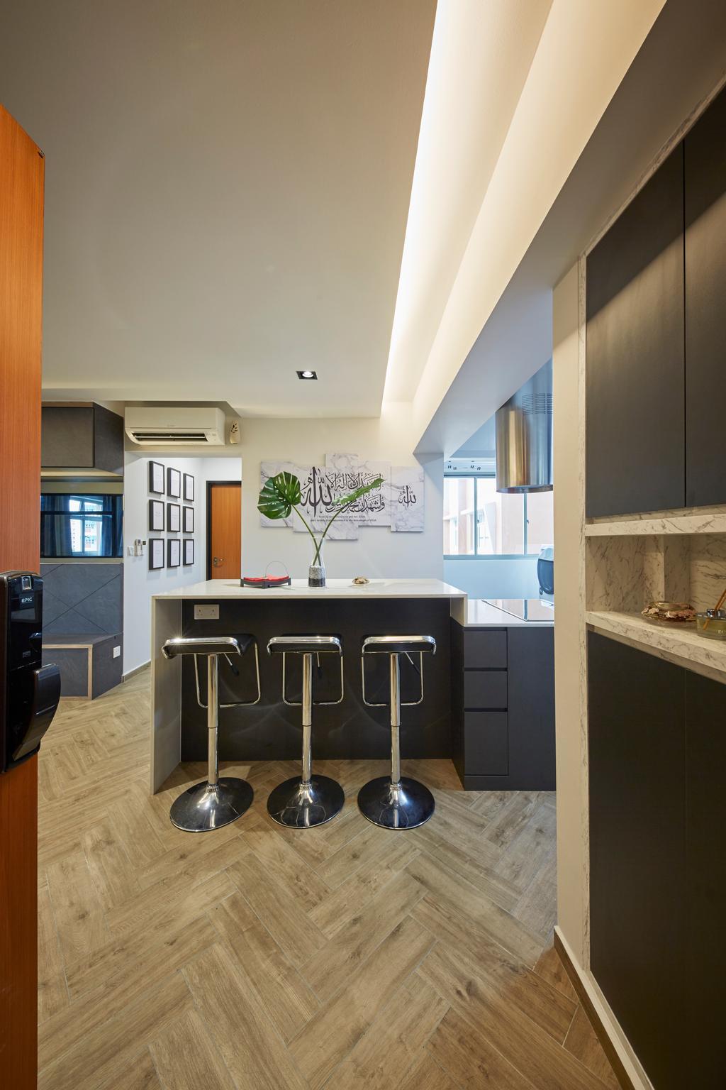 Contemporary, HDB, Dining Room, Tampines Street 45, Interior Designer, i-Chapter