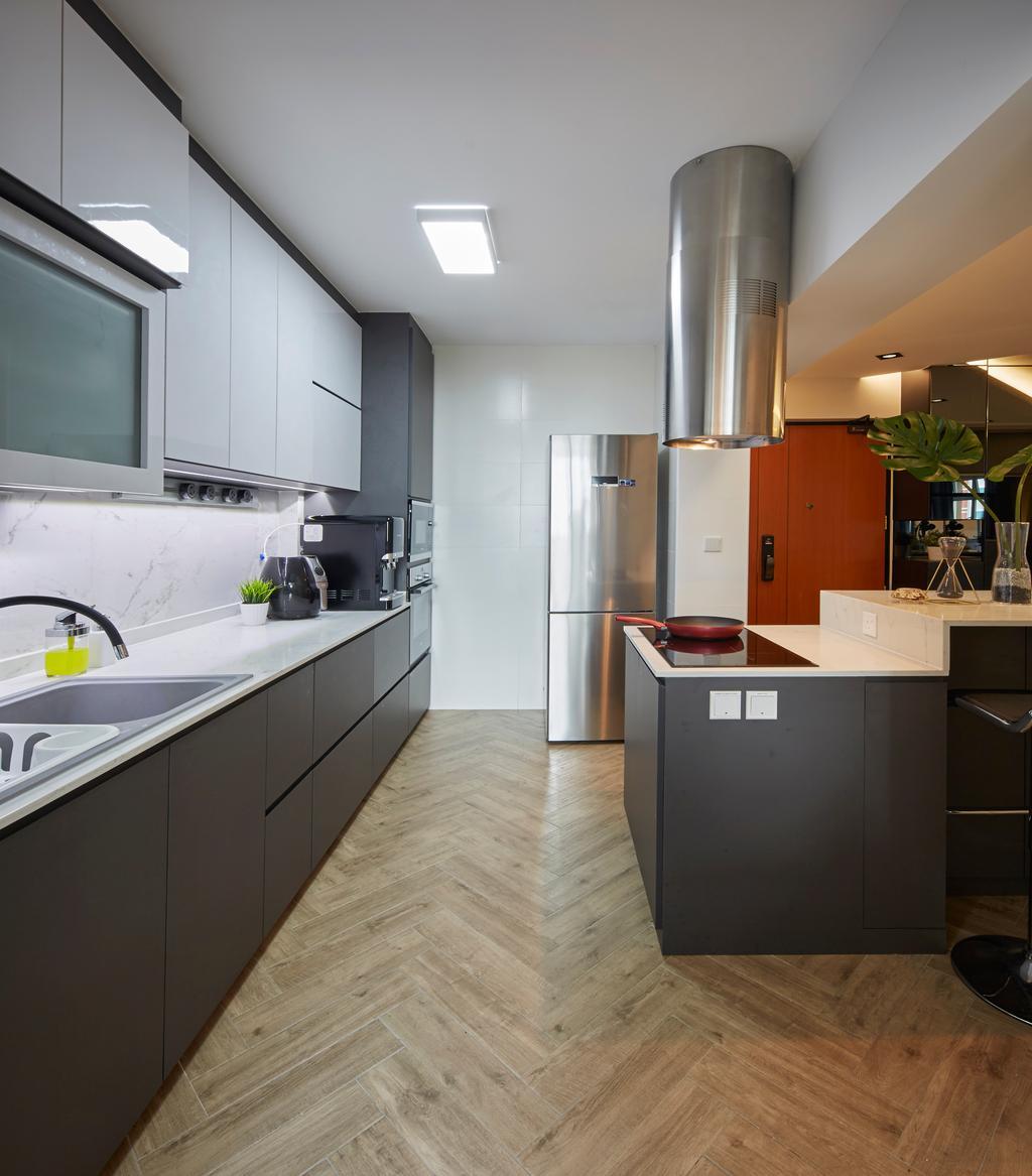 Contemporary, HDB, Kitchen, Tampines Street 45, Interior Designer, i-Chapter