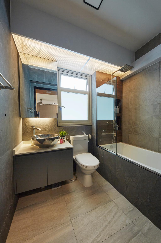 Contemporary, HDB, Bathroom, Tampines Street 45, Interior Designer, i-Chapter