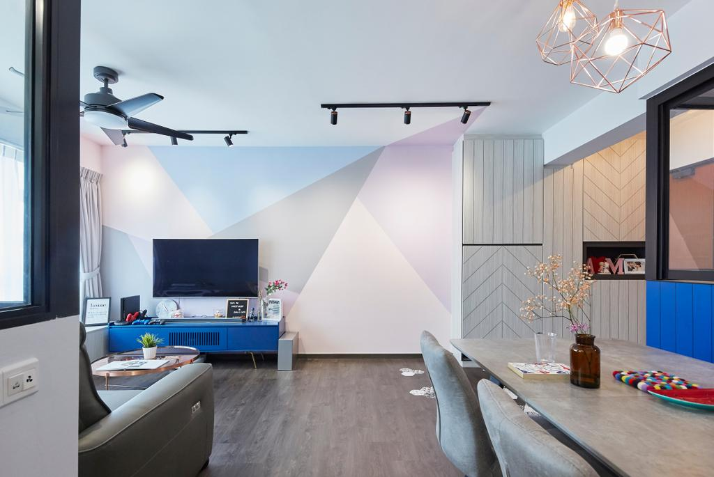 Eclectic, HDB, Living Room, Telok Blangah Street 31, Interior Designer, i-Chapter