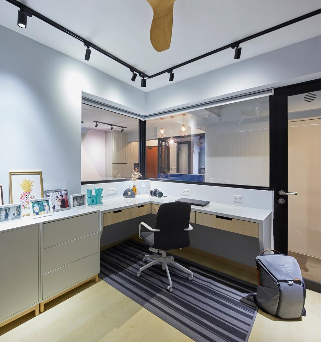 Eclectic, HDB, Study, Telok Blangah Street 31, Interior Designer, i-Chapter