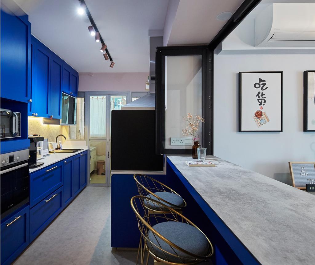 Eclectic, HDB, Dining Room, Telok Blangah Street 31, Interior Designer, i-Chapter