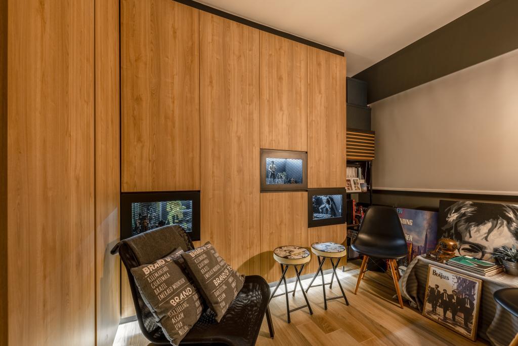 Industrial, HDB, West Ridges, Interior Designer, Earth Interior Design Pte Ltd, Modern