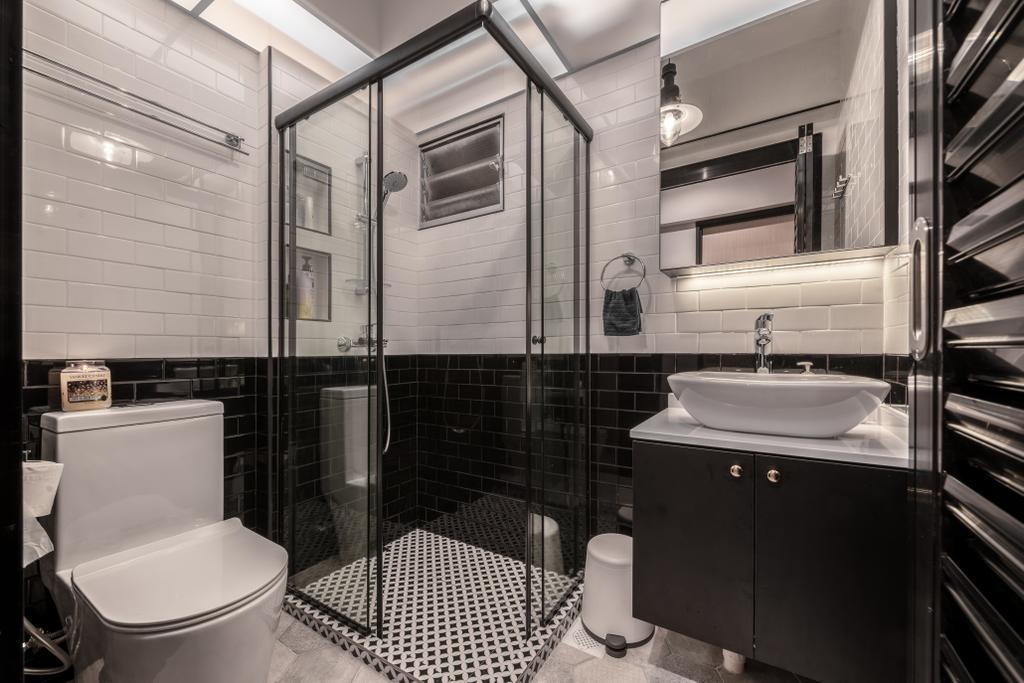 Industrial, HDB, Bathroom, West Ridges, Interior Designer, Earth Interior Design Pte Ltd, Modern