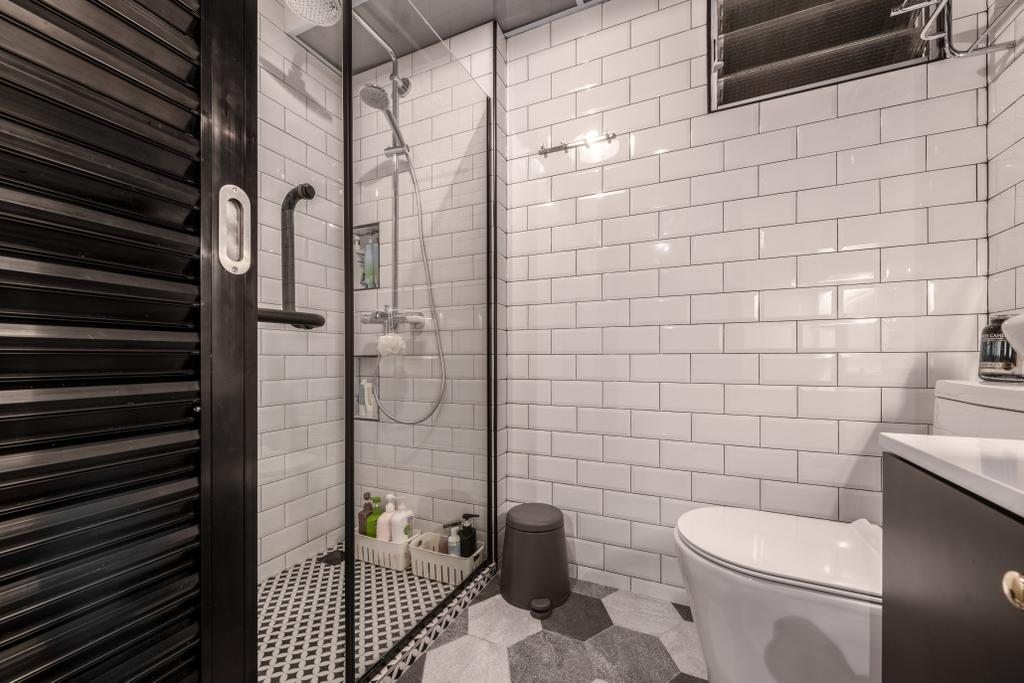 Industrial, HDB, Bathroom, West Ridges, Interior Designer, Earth Interior Design Pte Ltd, Modern