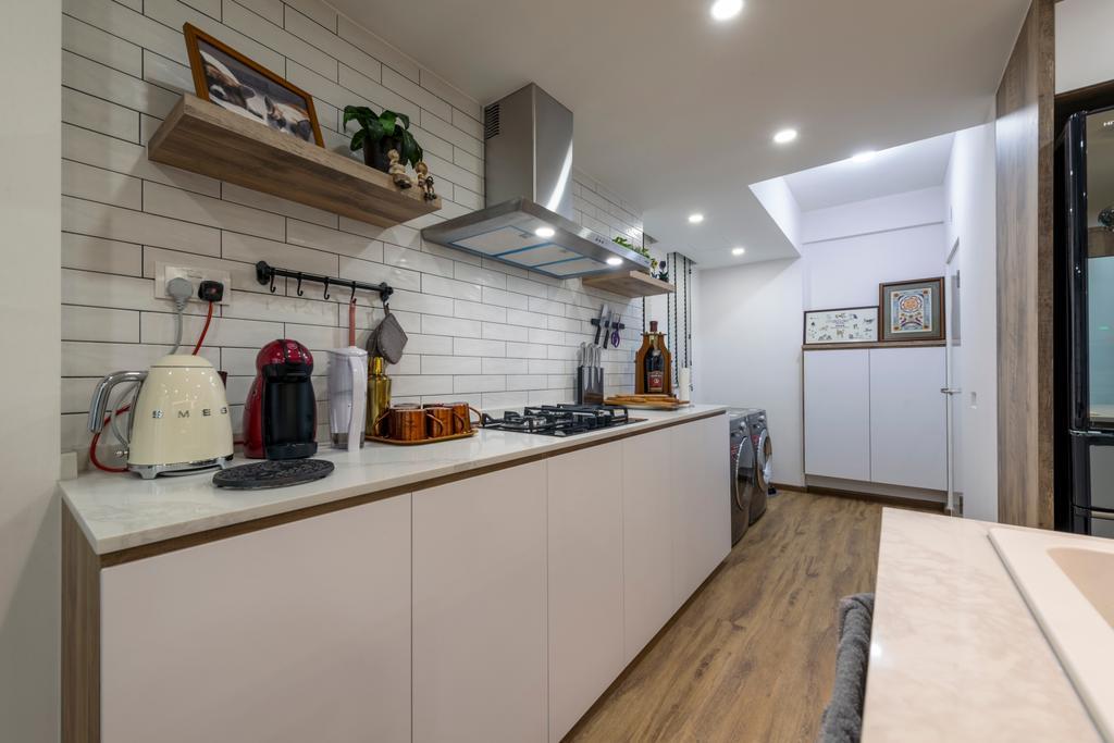 Contemporary, Condo, Kitchen, The Terrace, Interior Designer, Earth Interior Design Pte Ltd