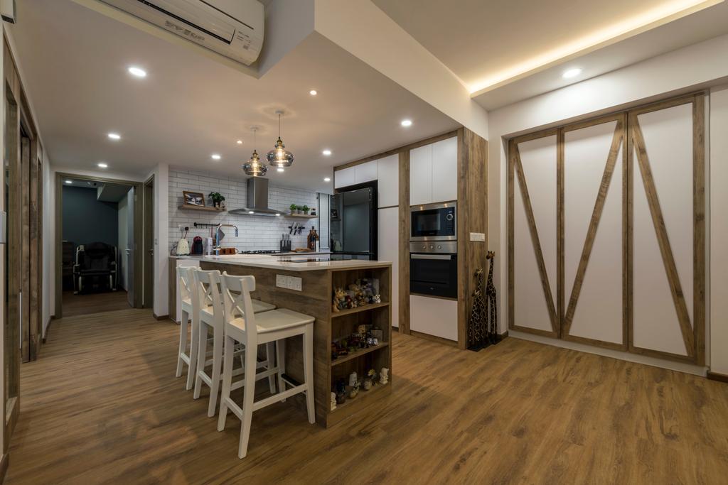 Contemporary, Condo, The Terrace, Interior Designer, Earth Interior Design Pte Ltd