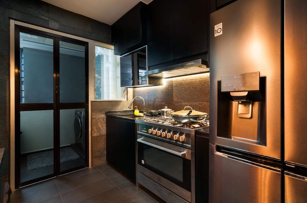Modern, HDB, Kitchen, Bukit Batok (Block 445B), Interior Designer, Livinci Interior