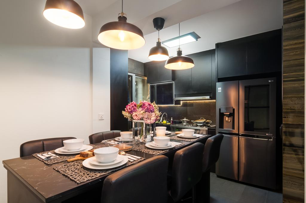 Modern, HDB, Dining Room, Bukit Batok (Block 445B), Interior Designer, Livinci Interior