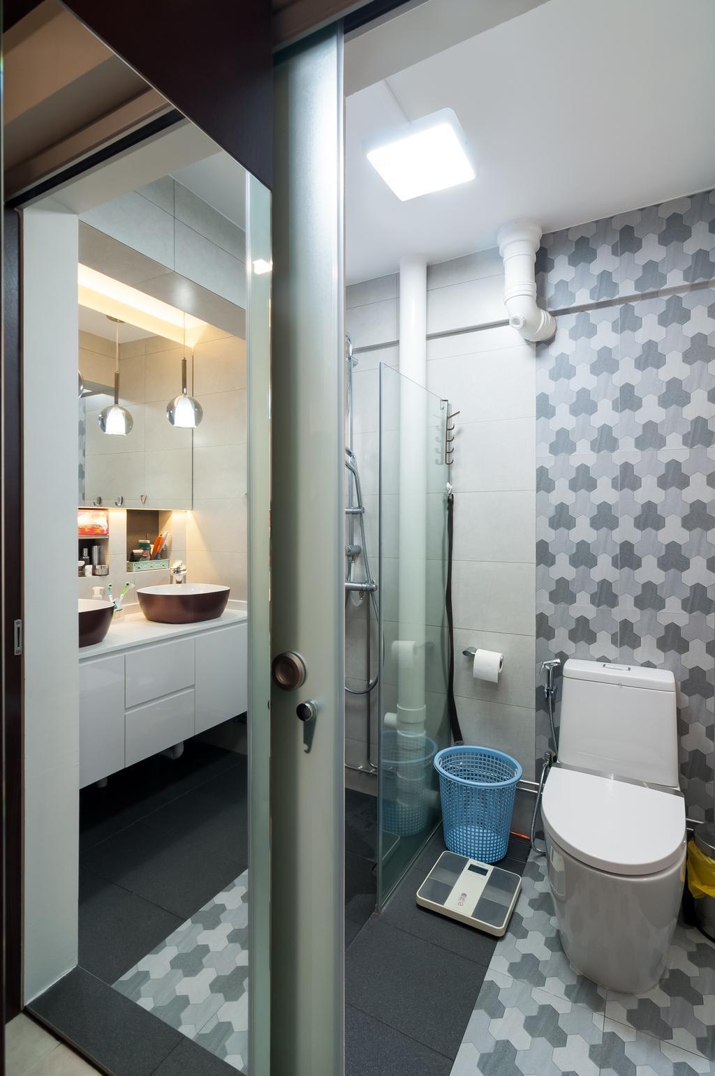 Minimalist, HDB, Bathroom, Ang Mo Kio Avenue 6 (Block 714), Interior Designer, Livinci Interior, Modern