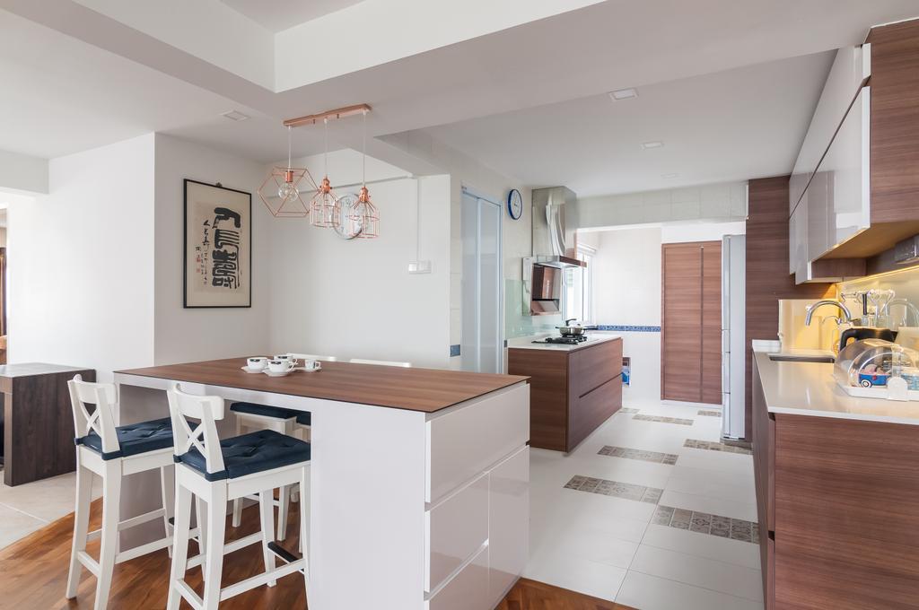 Minimalist, HDB, Kitchen, Ang Mo Kio Avenue 6 (Block 714), Interior Designer, Livinci Interior, Modern