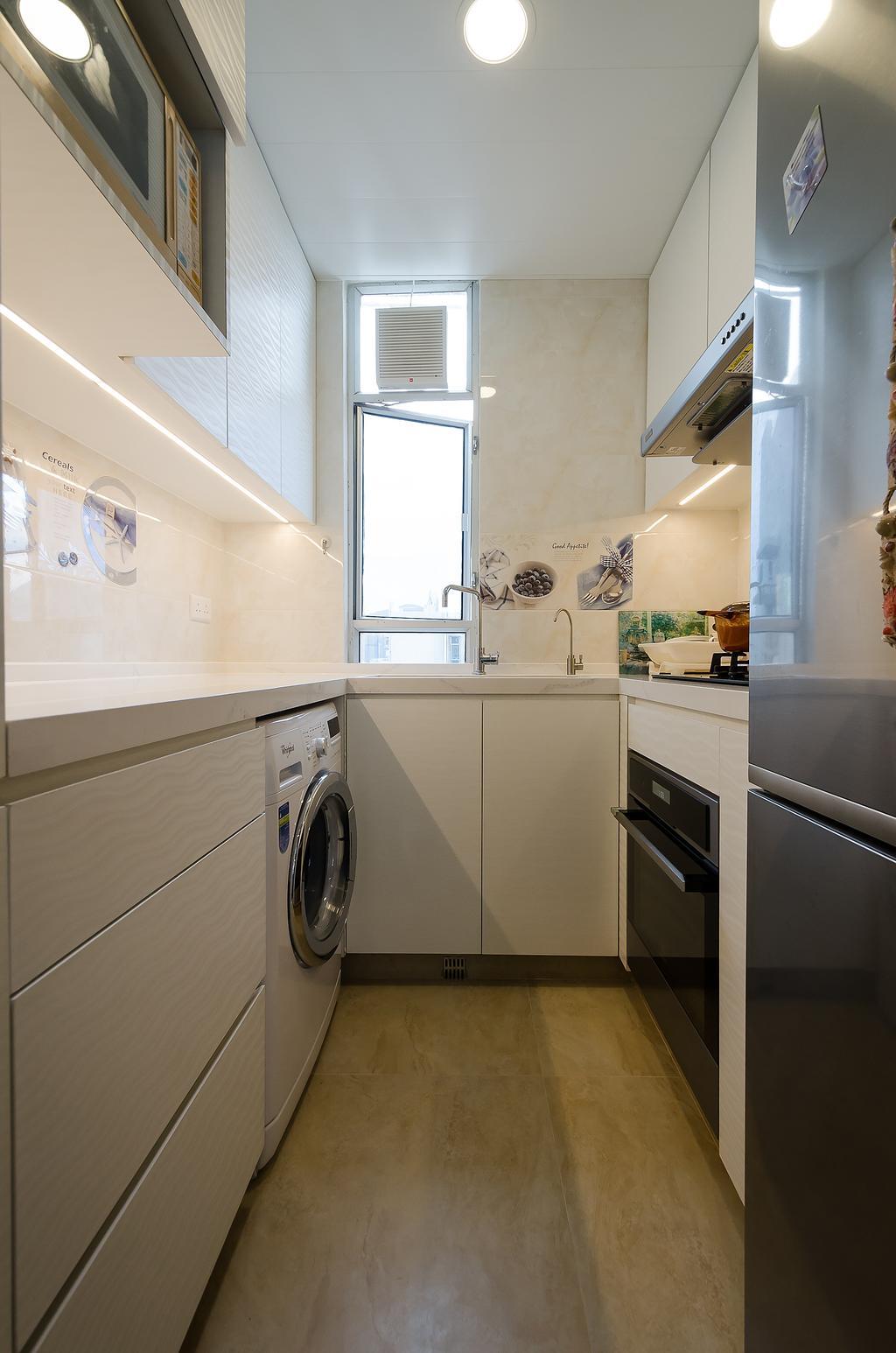 公屋/居屋, 廚房, 富寧花園, 室內設計師, 現時設計