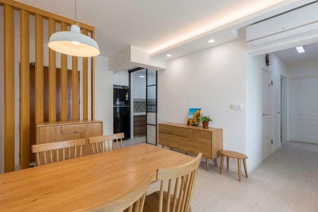 Scandinavian, HDB, Dining Room, Clementi Avenue 1, Interior Designer, Omni Design, Minimalist