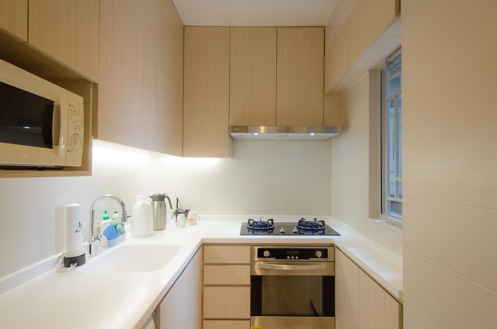 簡約, 私家樓, 廚房, 怡心園, 室內設計師, 現時設計