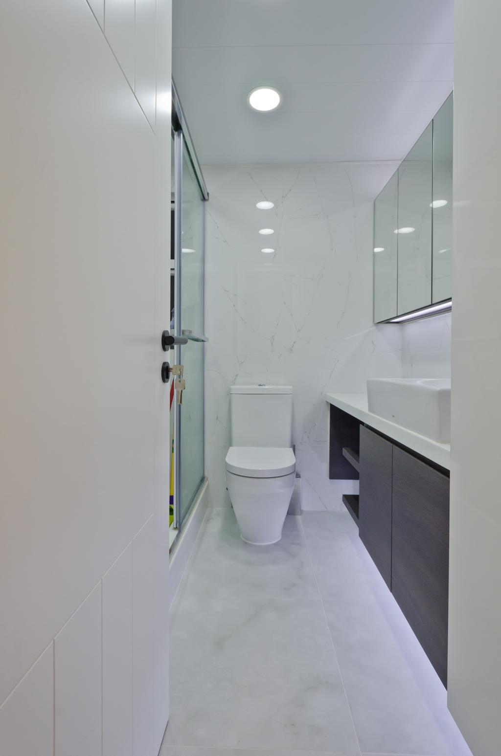 簡約, 私家樓, 浴室, 和富中心, 室內設計師, 現時設計