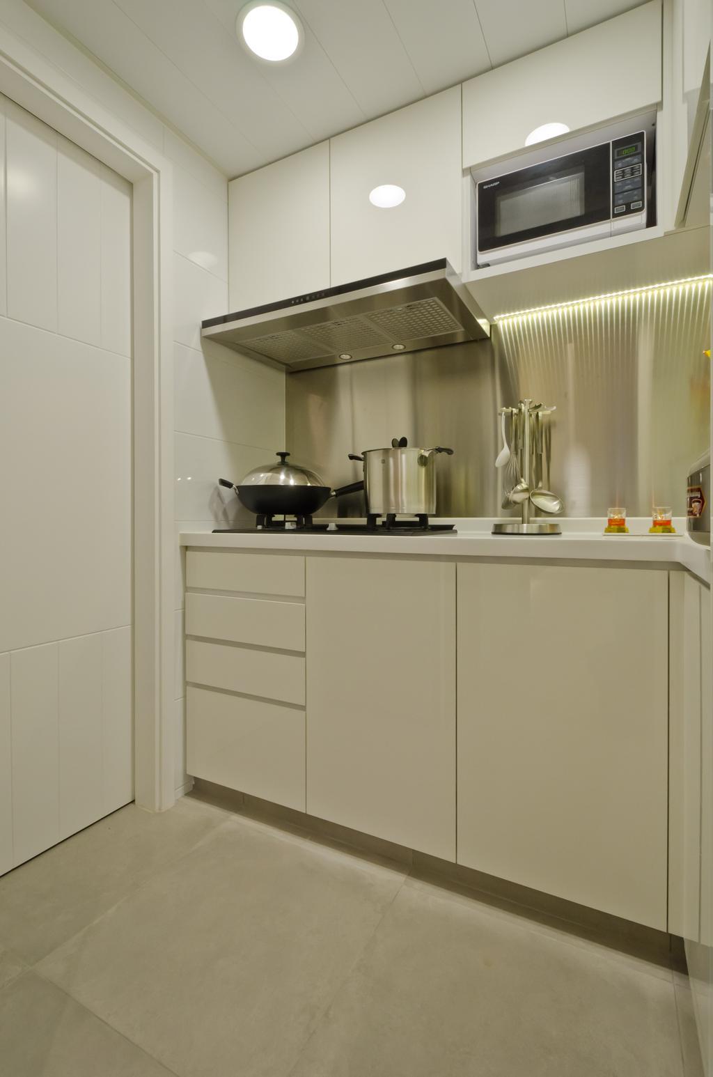 簡約, 私家樓, 廚房, 和富中心, 室內設計師, 現時設計
