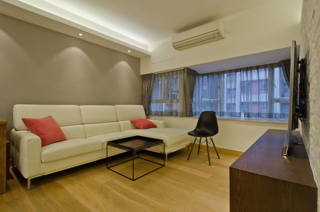 簡約, 私家樓, 客廳, 和富中心, 室內設計師, 現時設計