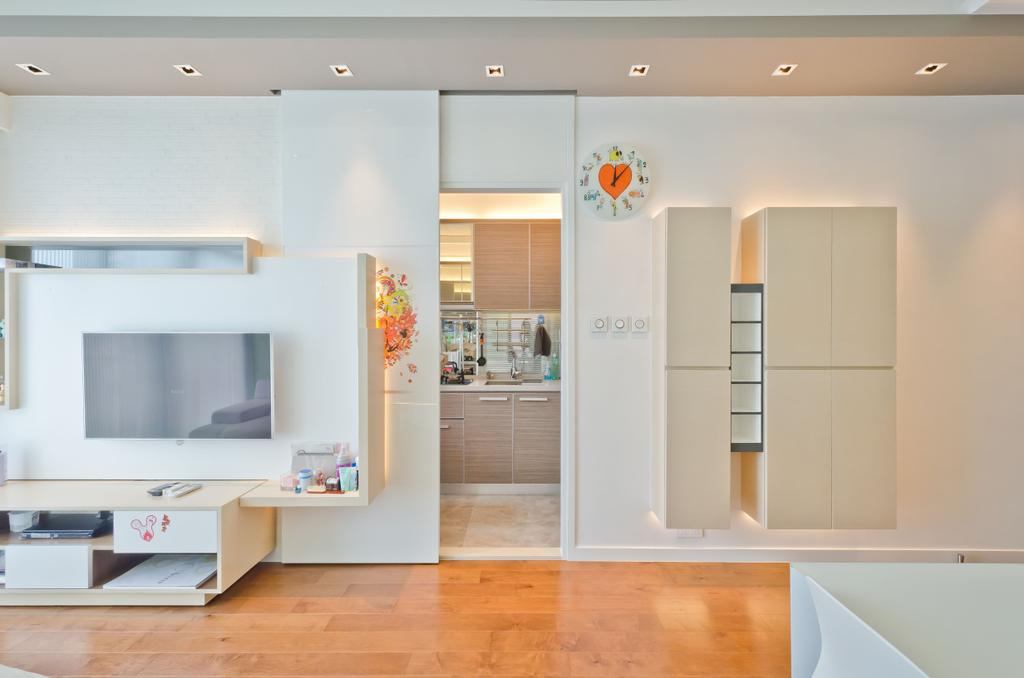 私家樓, 客廳, 天晉8座D室, 室內設計師, 現時設計