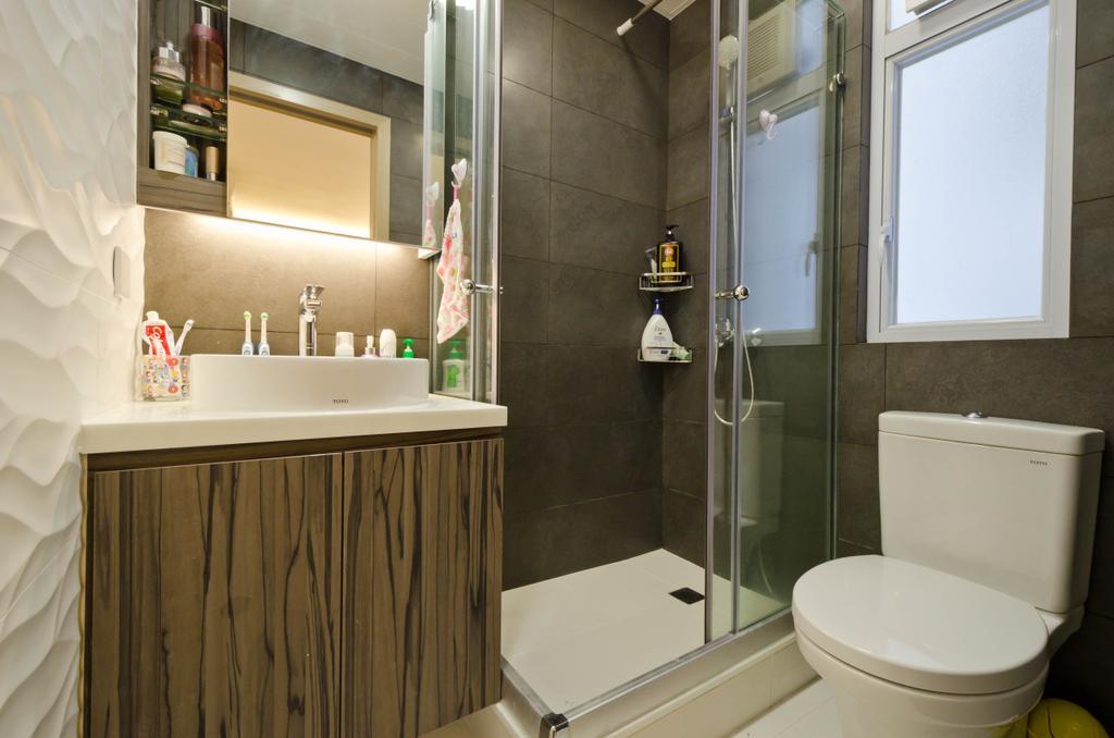 私家樓, 浴室, 華康大廈 4B, 室內設計師, 現時設計