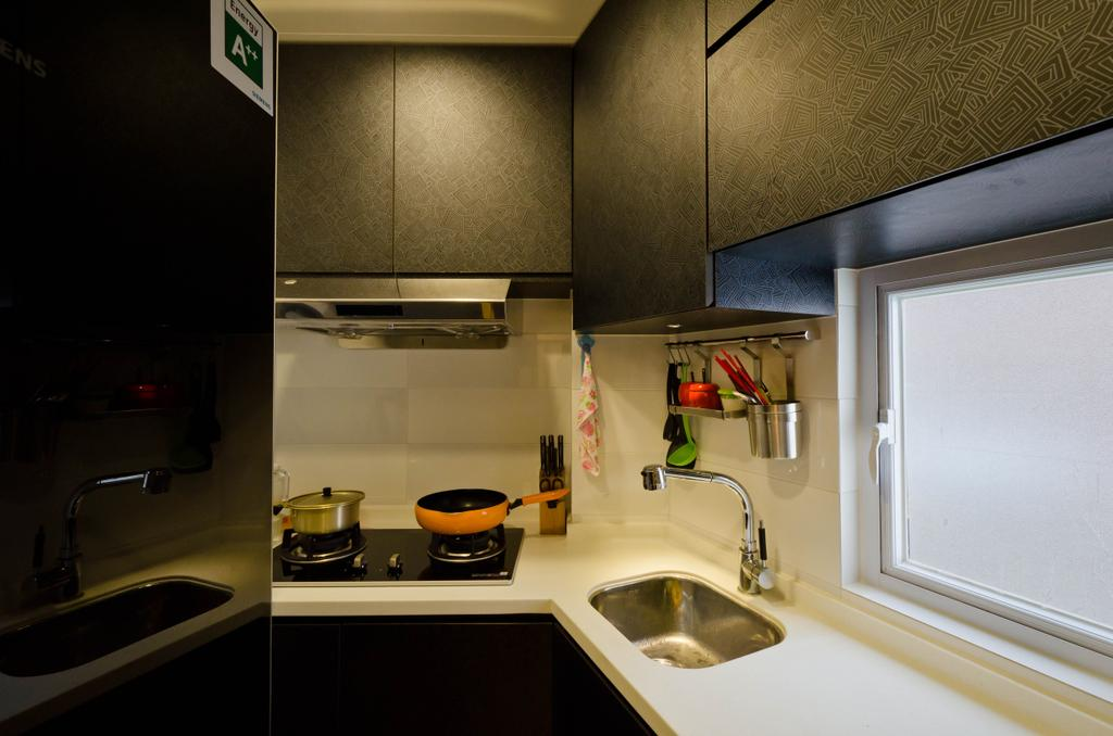 私家樓, 廚房, 華康大廈 4B, 室內設計師, 現時設計