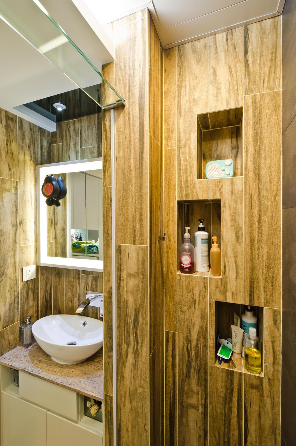 私家樓, 浴室, 華康大廈 19B, 室內設計師, 現時設計