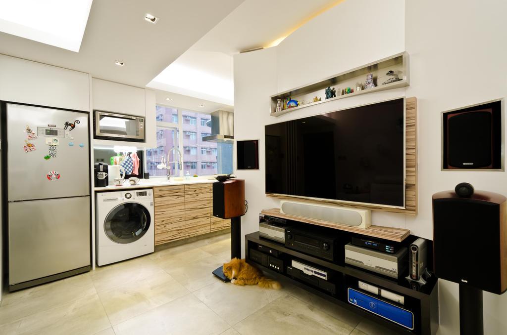 私家樓, 客廳, 華康大廈 19B, 室內設計師, 現時設計