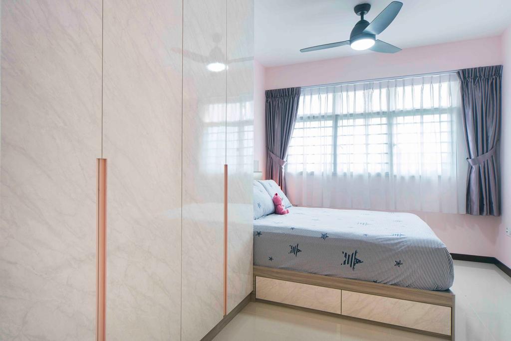 Contemporary, HDB, Bedroom, Sumang Walk, Interior Designer, Cozy Ideas Interior Design
