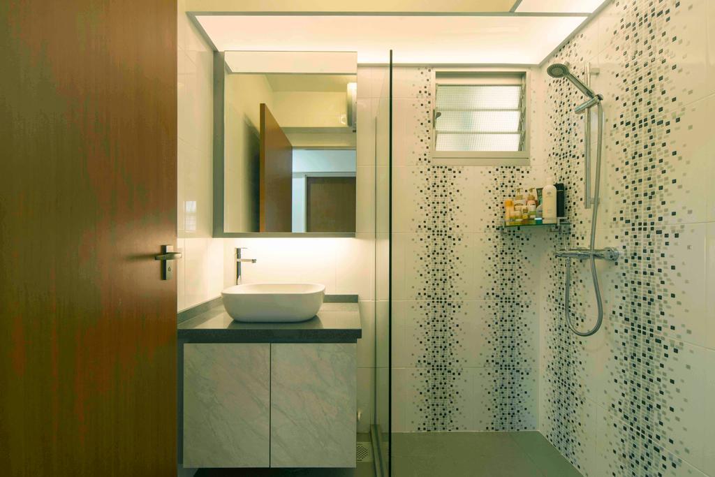 Contemporary, HDB, Bathroom, Sumang Walk, Interior Designer, Cozy Ideas Interior Design
