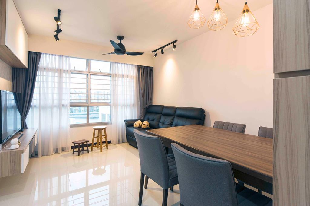 Contemporary, HDB, Living Room, Sumang Walk, Interior Designer, Cozy Ideas Interior Design
