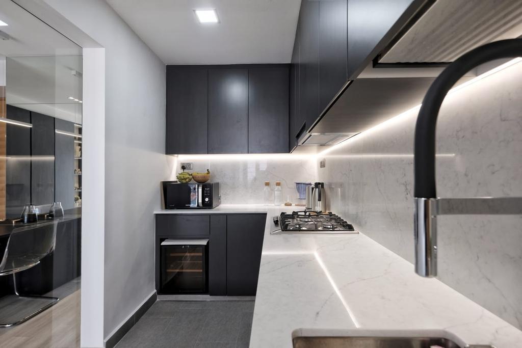 Contemporary, Condo, Kitchen, The Trumps, Interior Designer, United Team Lifestyle