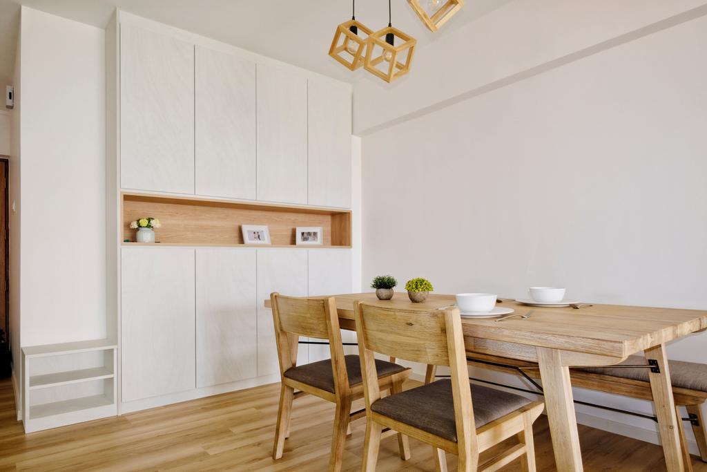 Scandinavian, HDB, Dining Room, Bishan Street 24, Interior Designer, United Team Lifestyle