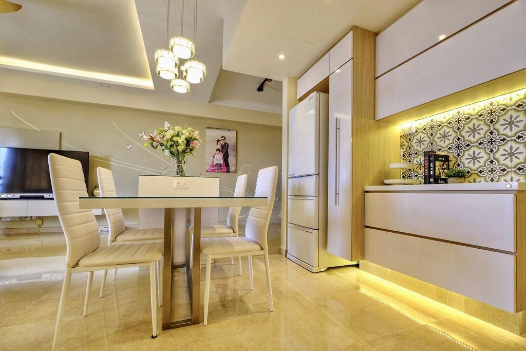 Contemporary, Condo, Dining Room, Thomson 800, Interior Designer, United Team Lifestyle