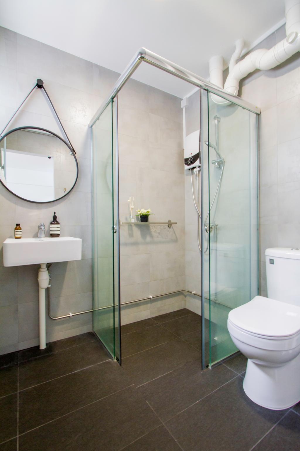 Contemporary, HDB, Bathroom, Bedok Reservoir Road, Interior Designer, Renolux Interior