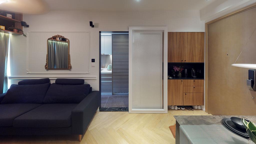 私家樓, 客廳, 溱柏, 室內設計師, Ash Studio