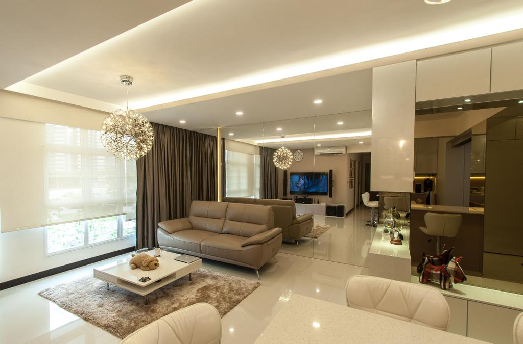 Modern, HDB, Living Room, Compassvale Crescent, Interior Designer, Space Atelier